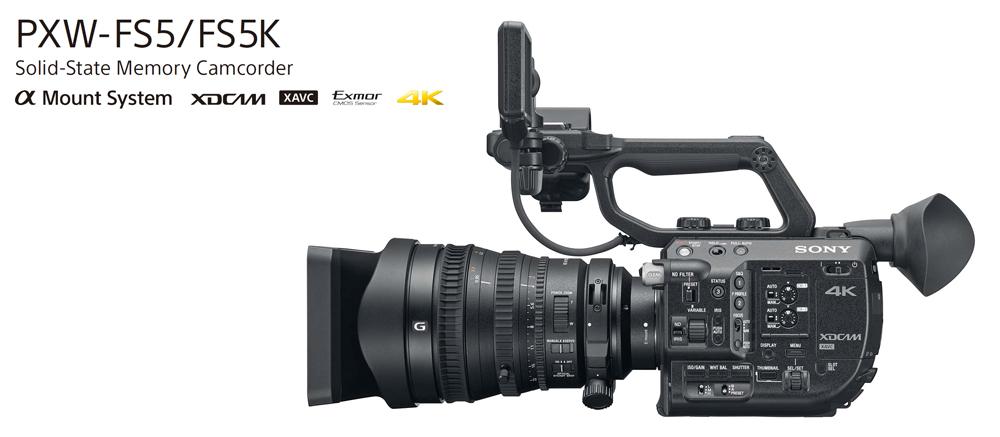 Sony PWX-FS5 4K con sensore Super 35