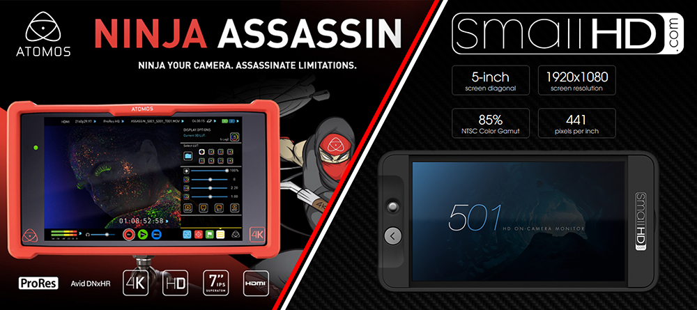 SmallHD 501 vs Atomos Ninja Assassin